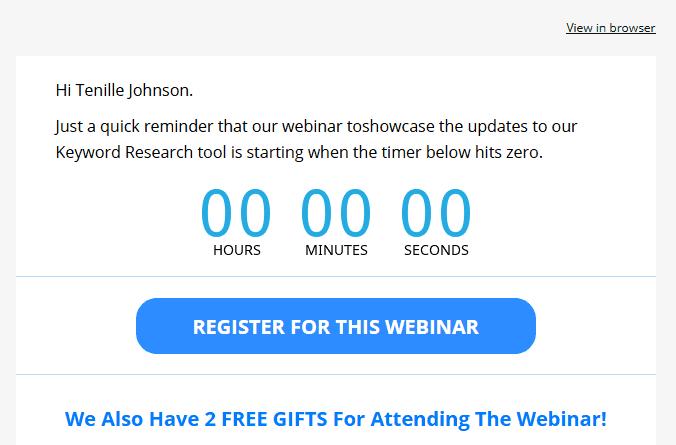 Countdown To Webinar Start